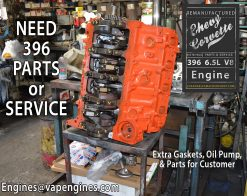 Need Chevy 396 Engine Parts or Machine Service