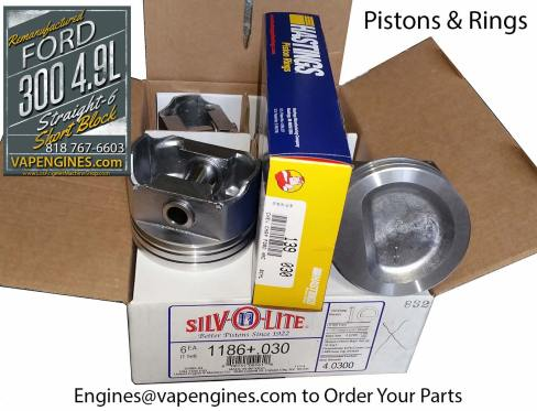 Ford 300 4.9 pistons and ring set