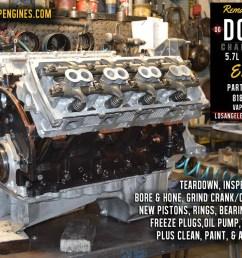 dodge hemi engine 06 dodge charger hemi 5 7 engine rebuild los angeles machine [ 1100 x 790 Pixel ]