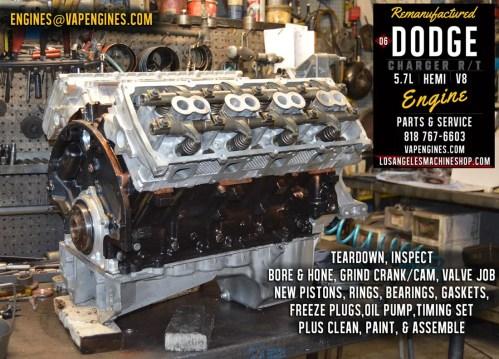 small resolution of dodge hemi engine 06 dodge charger hemi 5 7 engine rebuild los angeles machine