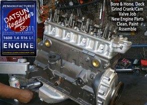 Remanufactured Datsun Roadster 1600 Engine