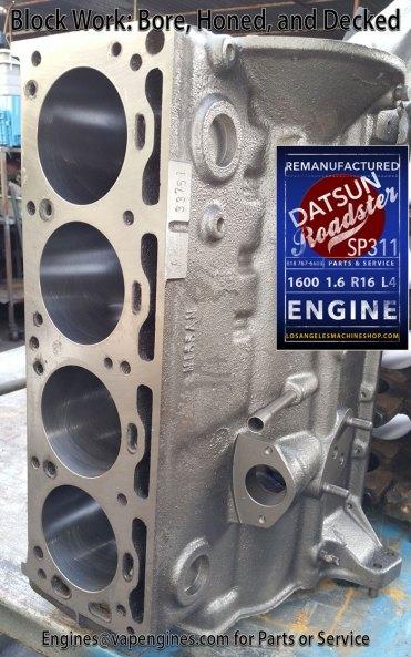 Decked Datsun 1600 1.6 engine block