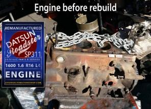 Datsun Roadster Sp311 R16 1.6 engine before rebuild