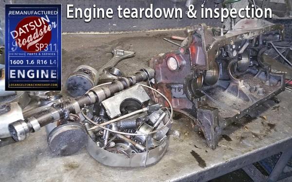 Datsun Roadster engine inspection