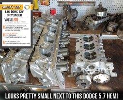 Dodge 5.7 hemi vs Smart 1.0 head