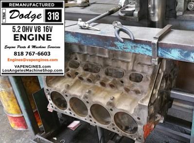 dodge 318 engine block bore