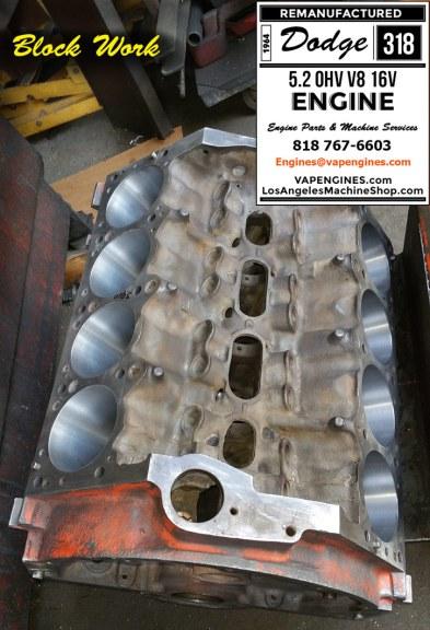 block work doge 318 engine