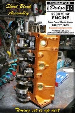 Dodge 318 engine Rebuild