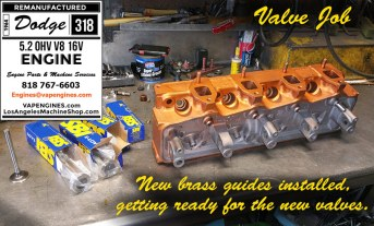 guides/valves on dodge 318 head