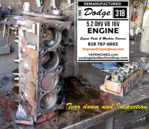 dodge 318 engine teardwon