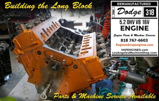 dodge 318 long block engine build