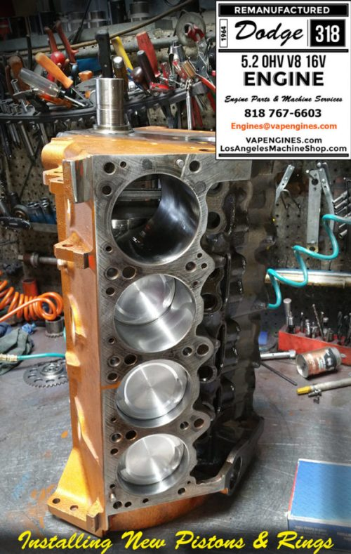 New pistons in Dodge 318 engine