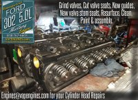 1990 Ford Mustang 302 5.0 cylinder head