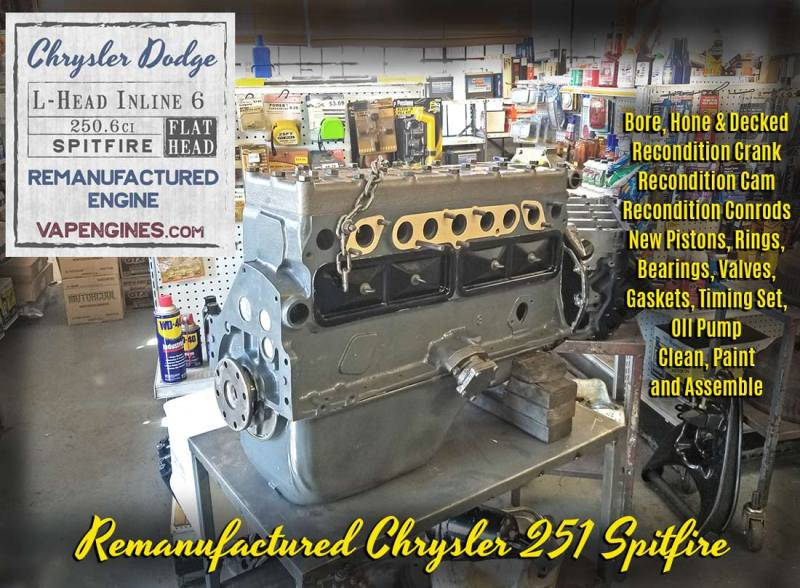 Dodge Chrysler 251 Spitfire Flathead Engine