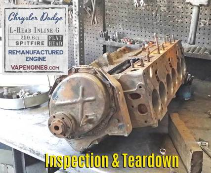 Chrysler 251 Engine before rebuild