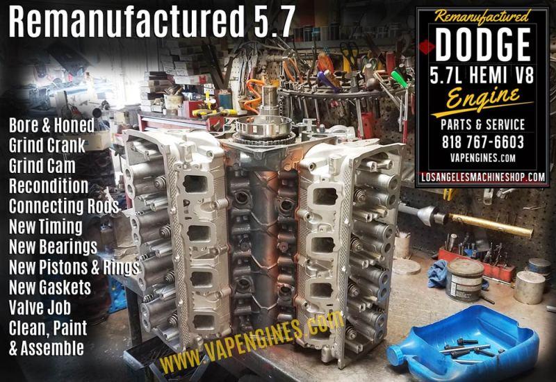 Rebuilt Chrysler Jeep Dodge Hemi 5.7 Engine