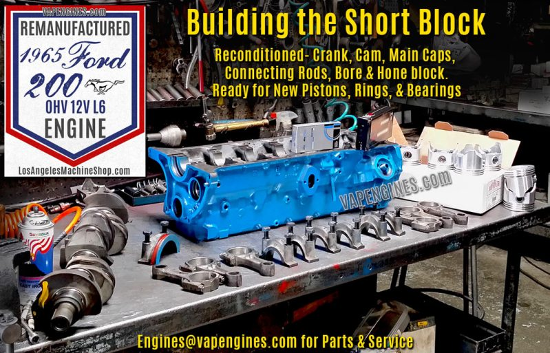 Ford 200 Short Block Rebuild Parts