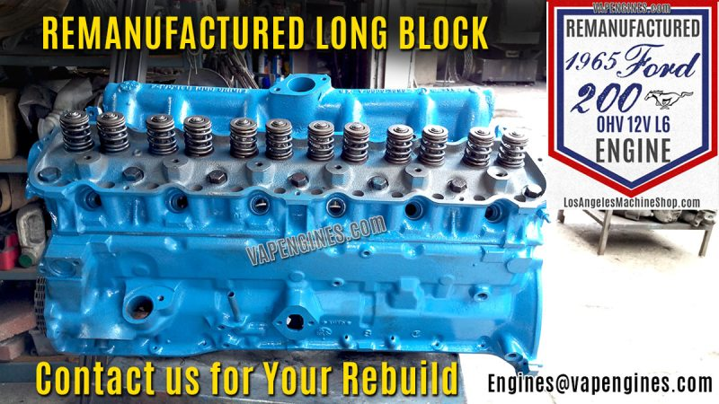 Remanufactured Ford 200 Engine