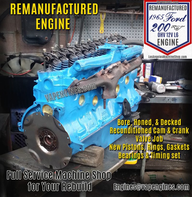 Ford 200 engine rebuilding service