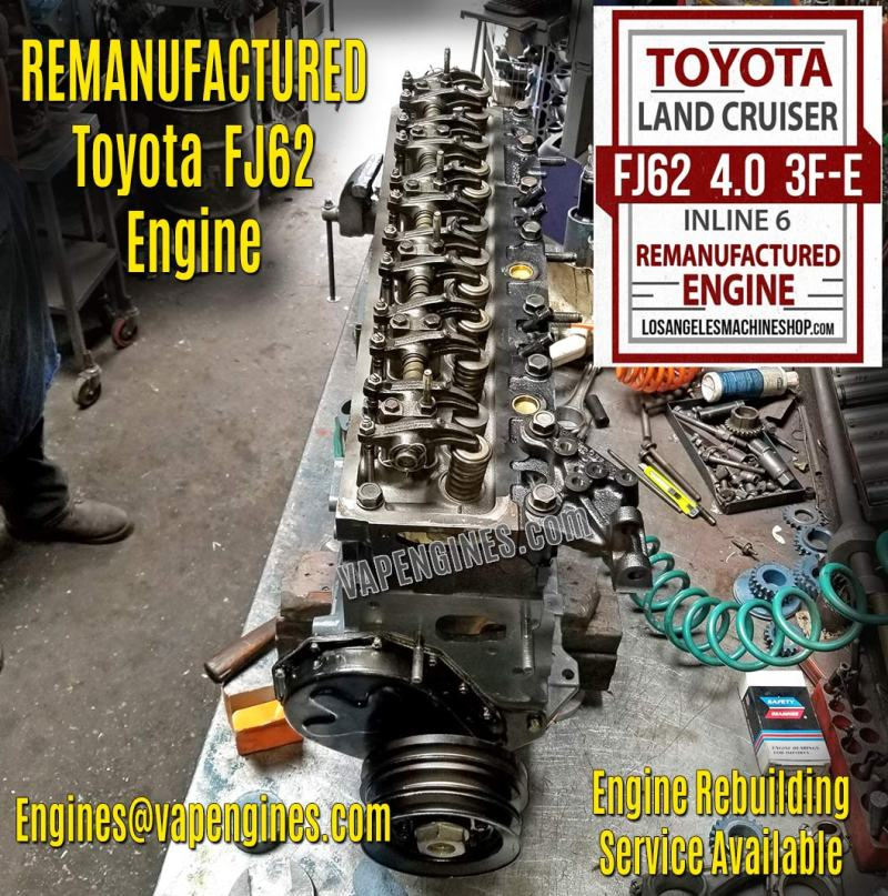 Toyota Land Cruiser FJ62 4.0 Engine Rebuild service