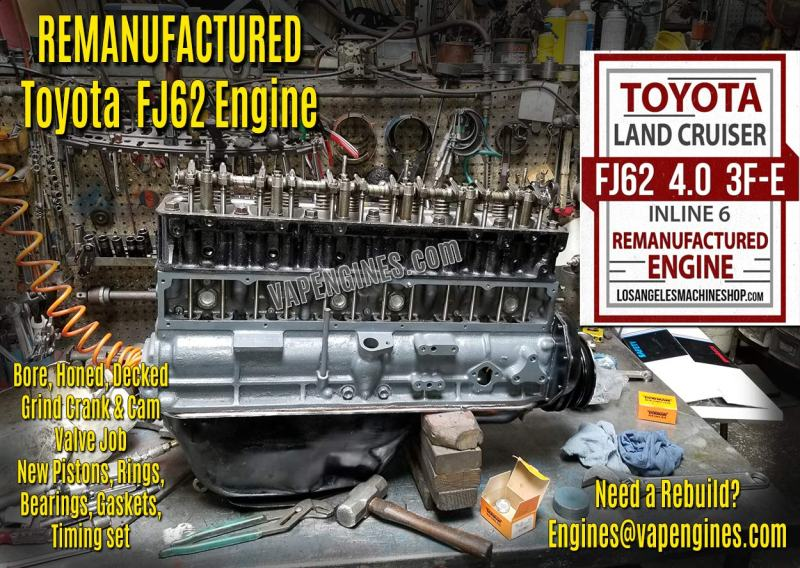 Toyota Land Cruiser FJ62 3FE 4.0 Engine Rebuild Service