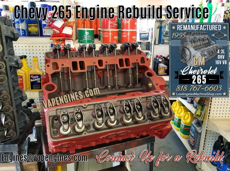 Rebuilt Chevy 265 Engine Machine Services