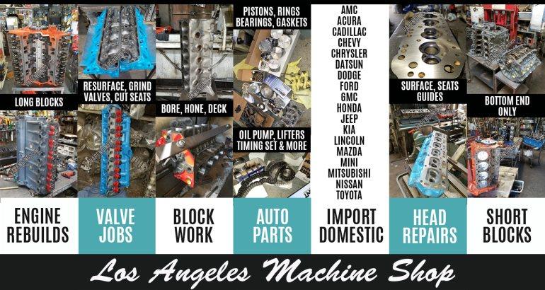 Los Angeles Machine Shop Engine Rebuild Services