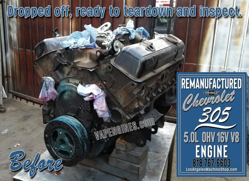 Before Engine Rebuild Chevy 305