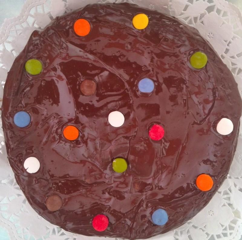 Tarta de chocolate infantil, para los cumples de los peques