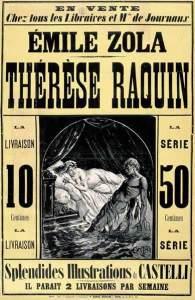Publicité pour Thérèse Raquin - ca 1867 via Wikicommons