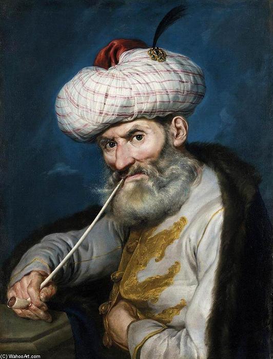Giacomo Ceruti detto il Pitocchetto, Ritratto di Fumatore in costume orientale, 1740, collezione privata