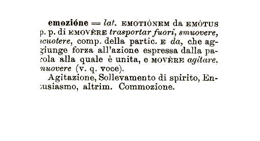 emozione - definizione