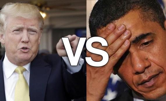 obama contro trump