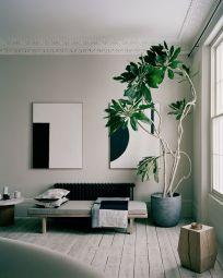 Un salotto arredato in stile minimal