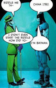 Una vignetta di Batman