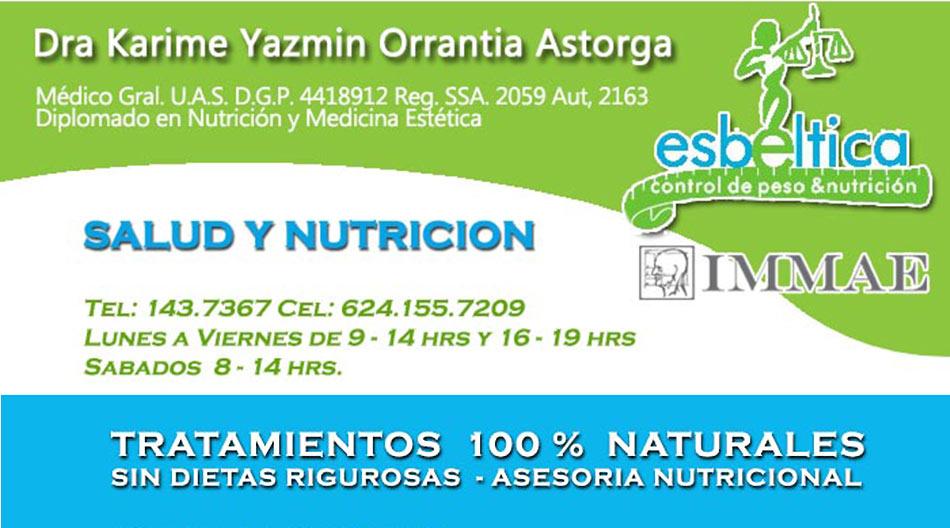 Dra Karime Yazmin Orrantia Astorga