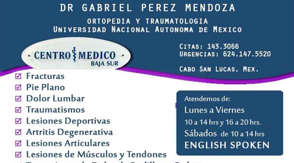 Dr Gabriel Perez Mendoza