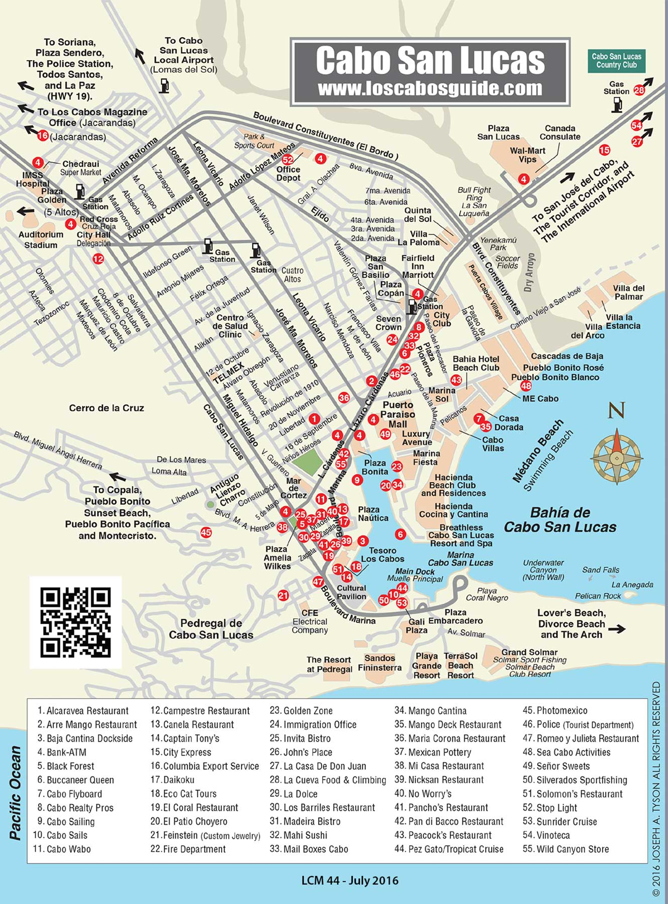 Maps Of Cabo San Lucas Hotels : lucas, hotels, Lucas, Cabos, Guide