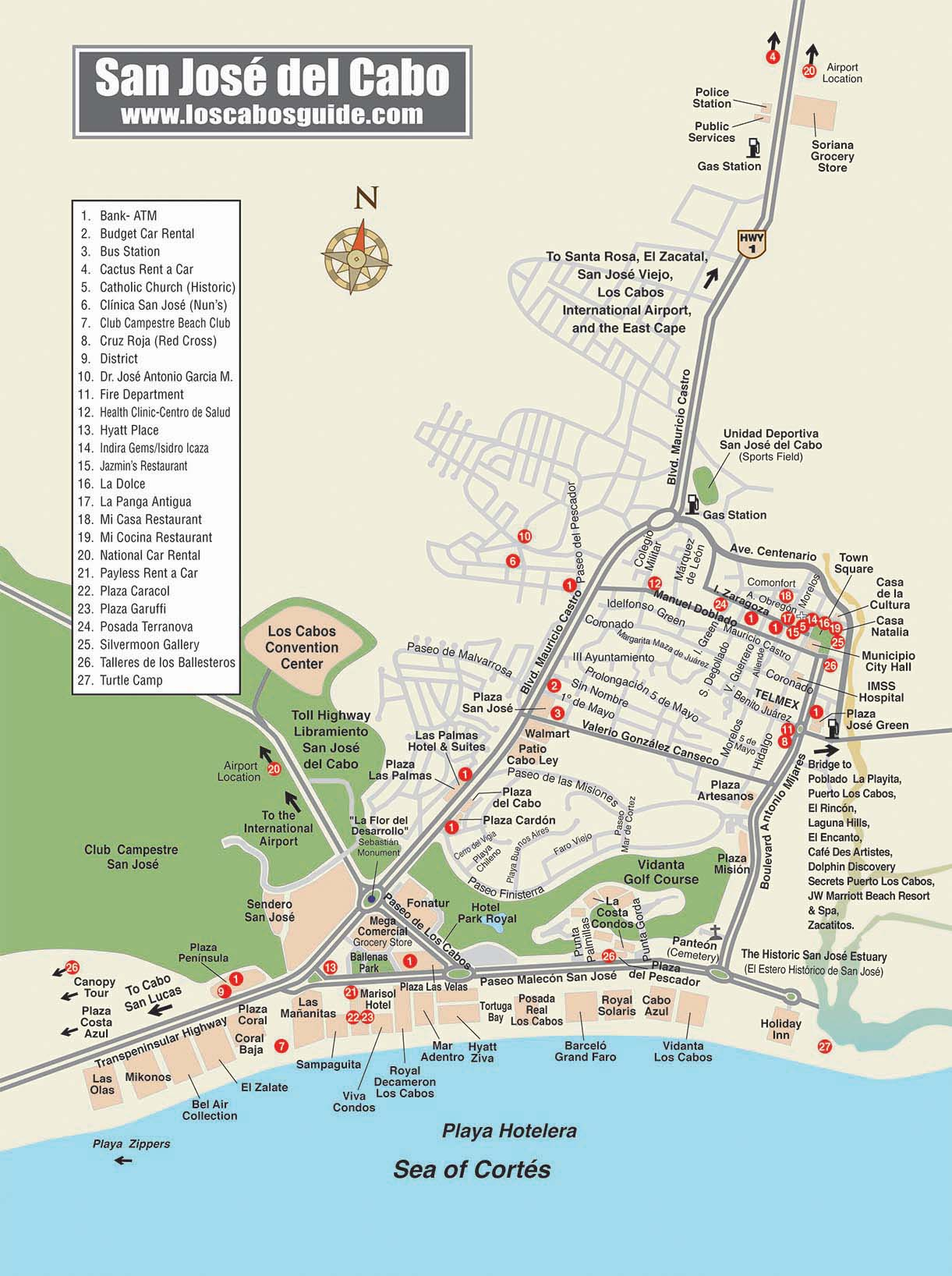 Maps Of Cabo San Lucas Hotels : lucas, hotels, Lucas, Cabos