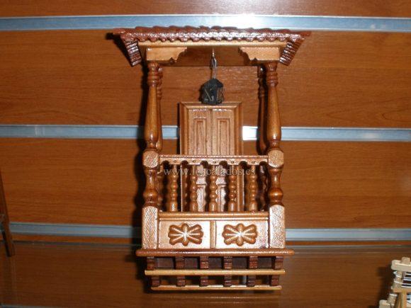 Balcón artesano en miniatura