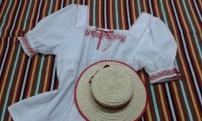 Blusa calada a mano, traje típico La Orotava