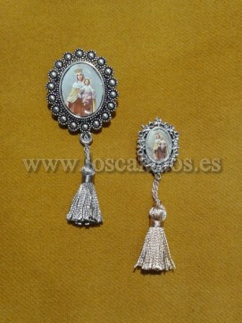 Broches Virgen del Carmen con Borlón