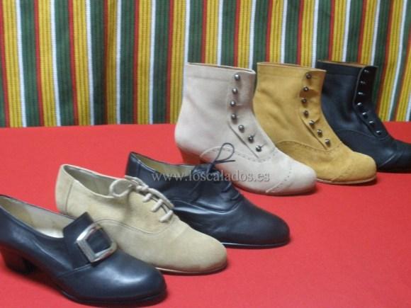 Zapatos y botines típicos canarios
