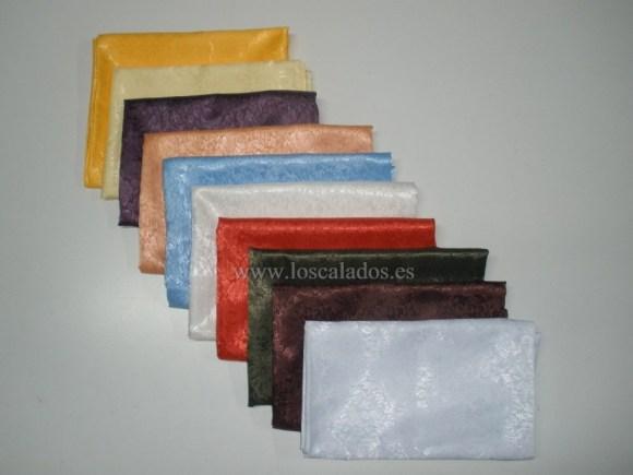 Pañuelos brocados de colores