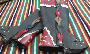 Polainas de cuero artesanas, traje típico La Orotava