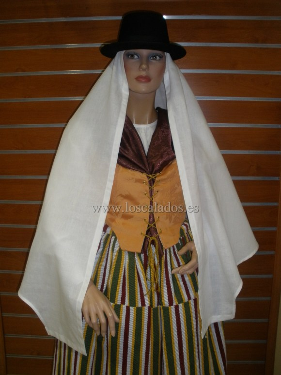 Mujer en traje de fiesta de Tegueste 1ª mitad S. XIX