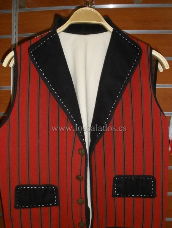 Chaleco del traje de Mayordomo de Garachico de 1824