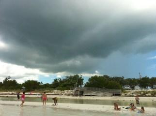 Tormenta en Bahia Honda, Cayos de la Florida