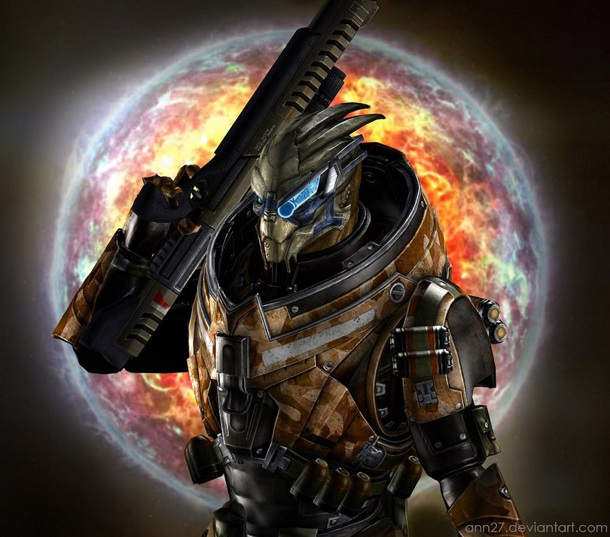 Cool 3d Art Wallpaper Garrus Vakarian As Archangel From The Mass Effect Trilogy