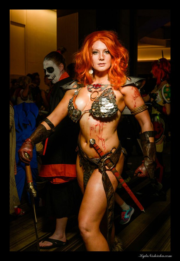 3d Birthday Wallpaper Awesome Red Sonja Cosplay At Dragoncon 2017